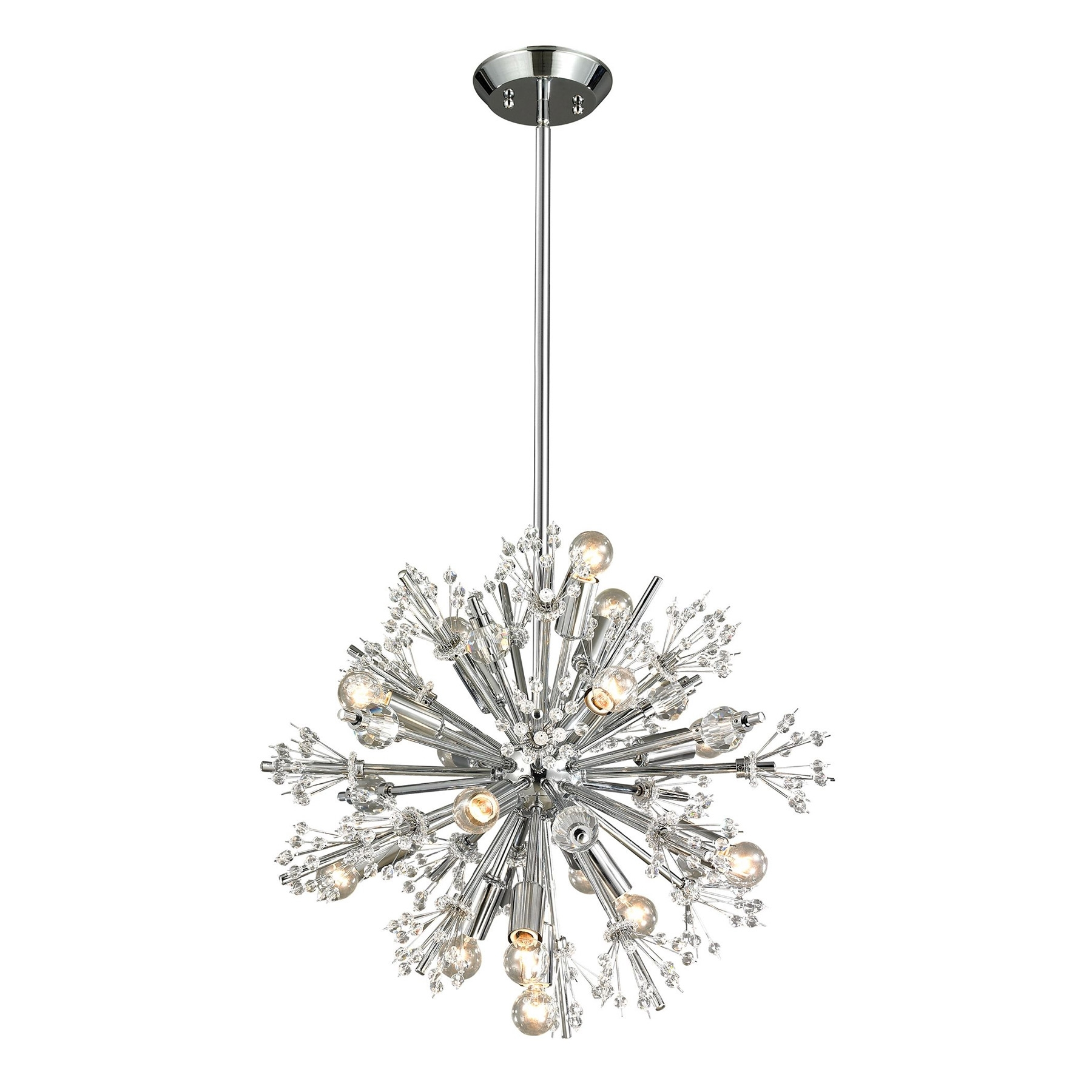 Most Recently Released Small Chandeliers Pertaining To Lighting 11750/15 Starburst 15 Light Small Chandelier (View 3 of 15)