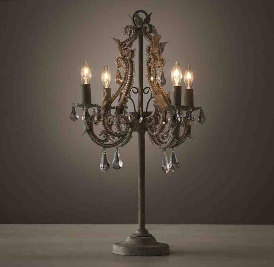Most Recently Released Small Crystal Chandelier Table Lamps For Chandelier Table Lamp Style — The Kienandsweet Furnitures (View 7 of 15)