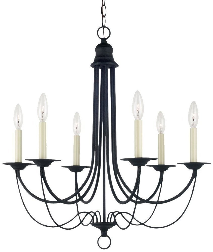 Most Recently Released Vintage Style Black Chandelier > $ (View 5 of 15)