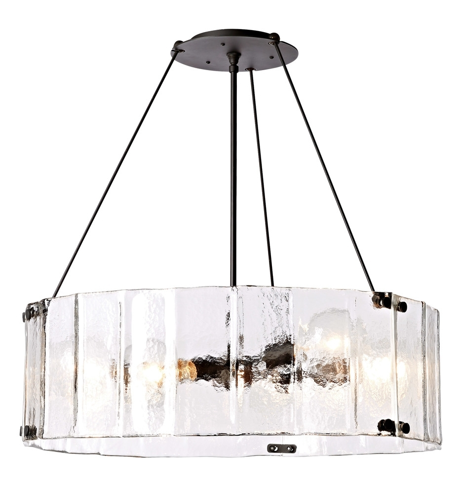 """Most Recently Released Willamette 32"""" Fluted Glass Chandelier (View 4 of 15)"""