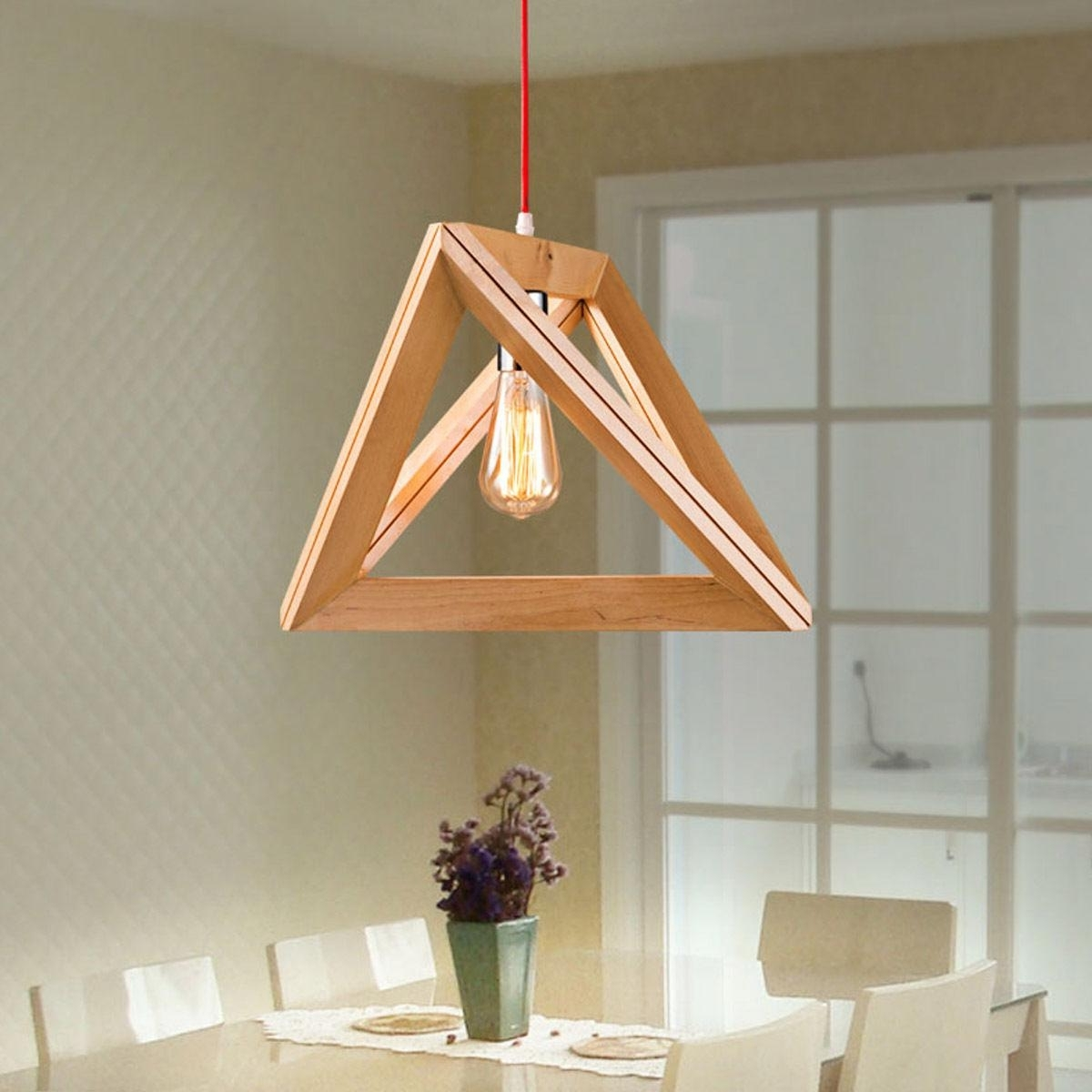 Most Recently Released Wooden Chandeliers Regarding New Modern Art Wooden Ceiling Light Pendant Lamp Lighting Light Wood (View 5 of 15)