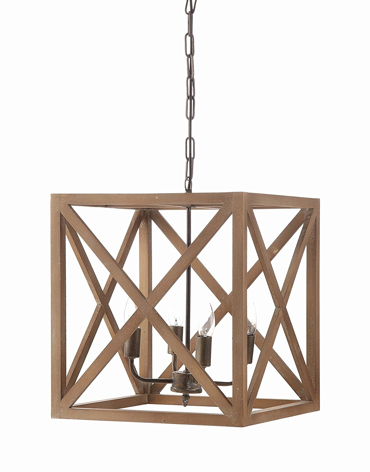 Most Recently Released Wooden Chandeliers Throughout Amazon: Creative Co Op Metal And Wood Chandelier,  (View 8 of 15)