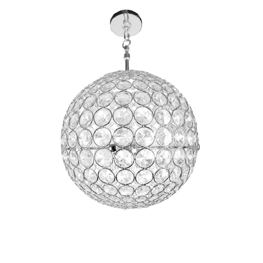 Most Up To Date Checkolite Crystal Sphere 3 Light Chrome Crystal Hanging Chandelier Inside Sphere Chandelier (View 11 of 15)