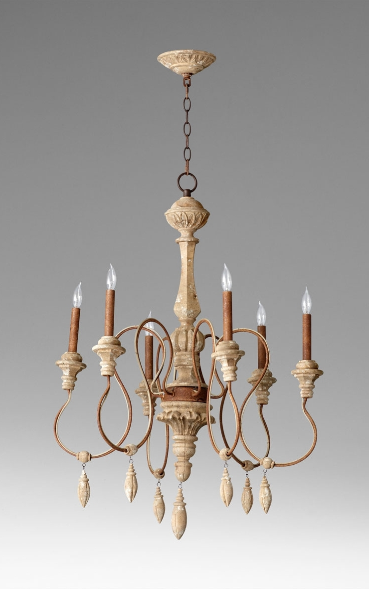 Most Up To Date Choat 6 Light Wood Chandeliercyan Design Inside French Wooden Chandelier (View 2 of 15)