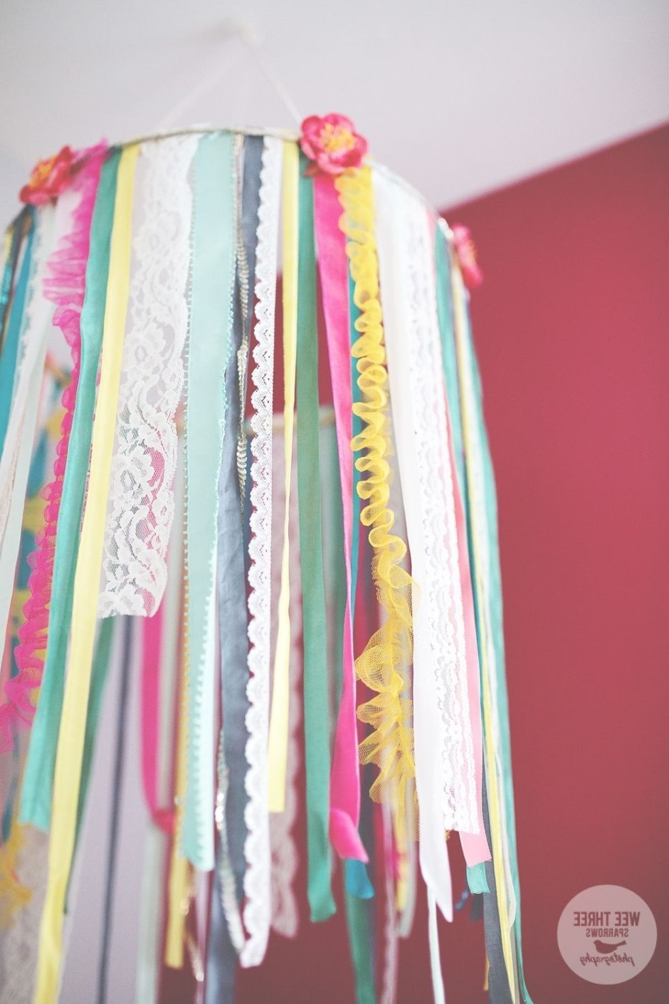 Most Up To Date Diy Ribbon Chandelier, Little Girls Bedroom, Turquoise Bedroom, Pink With Regard To Turquoise Bedroom Chandeliers (View 7 of 15)