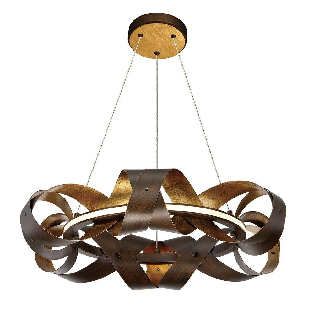 Most Up To Date Eurofase Banderia Collection 30 Watt Small Bronze Integrated Led In Small Bronze Chandelier (View 8 of 15)
