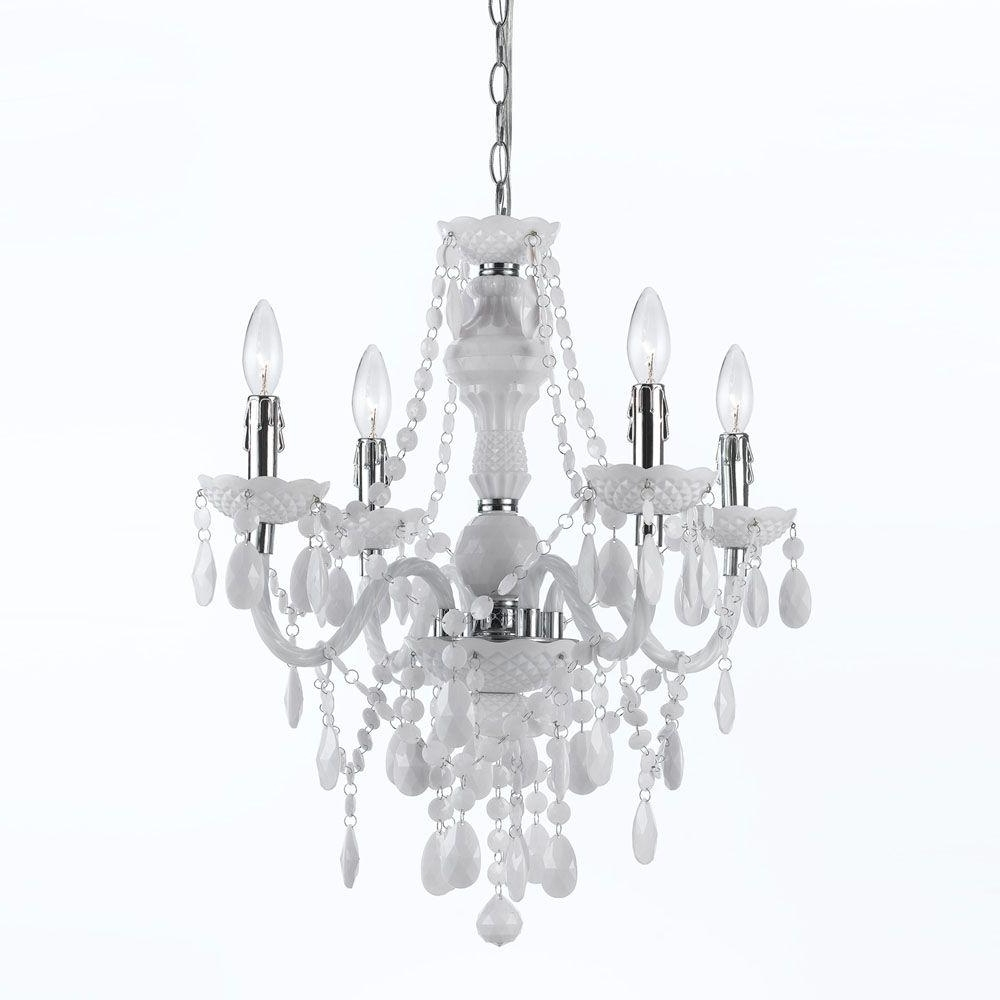 Most Up To Date Gold – Mini – Chandeliers – Lighting – The Home Depot Pertaining To Pink Plastic Chandeliers (View 8 of 15)