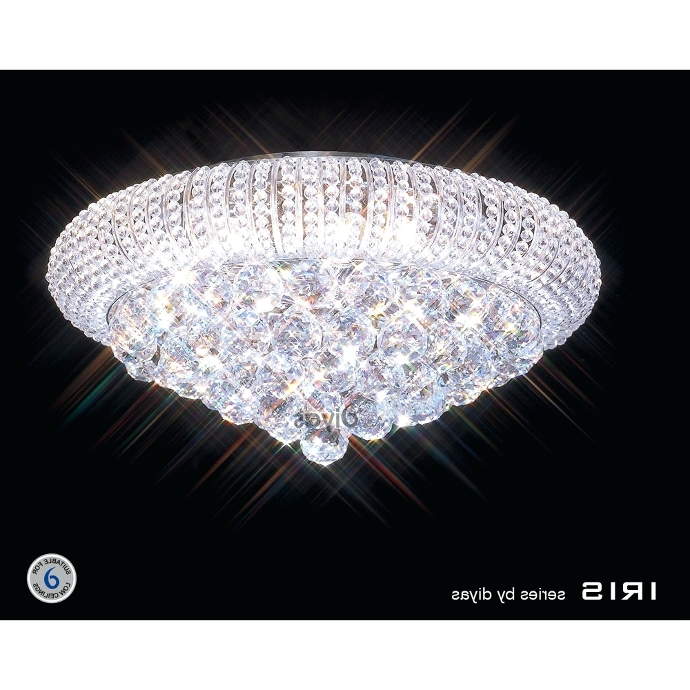 Most Up To Date Light : Low Ceiling Basement Lighting Ideas Tapesii Flush Chandelier For Low Ceiling Chandelier (View 8 of 15)
