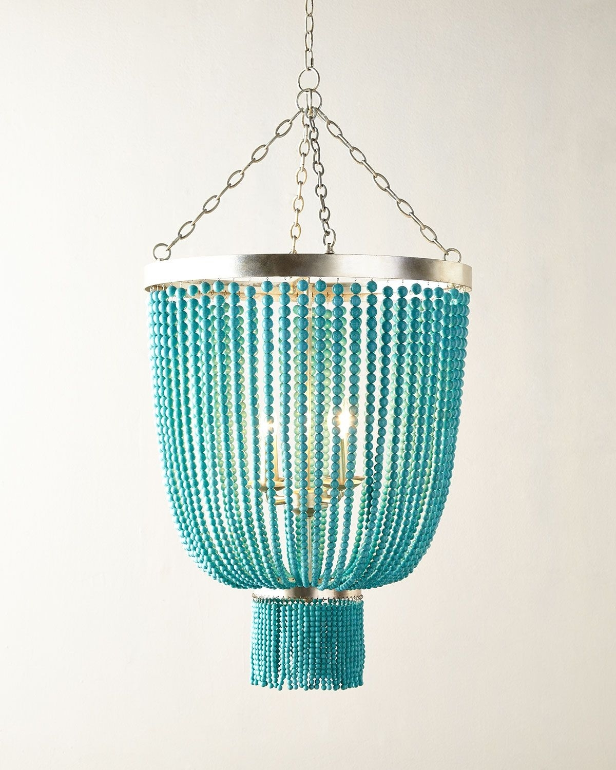 Most Up To Date Lighting : Aqua Light Turquoise Green Vintage Style Chandelier Within Turquoise Beads Six Light Chandeliers (View 5 of 15)