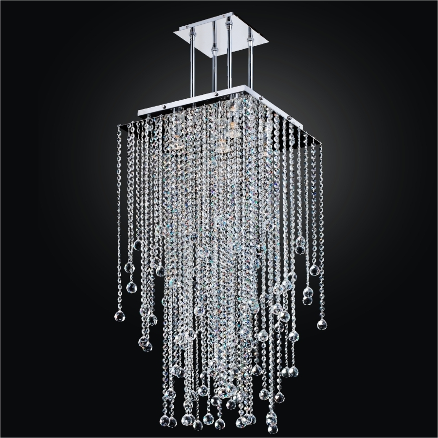Most Up To Date Long Crystal Chandelier – Square Crystal Chandelier (View 2 of 15)