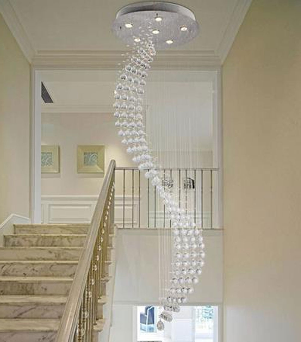 Most Up To Date Modern Large Chandeliers Pertaining To Home Design : Modern Chandeliers For Staircase Midcentury Large (View 9 of 15)