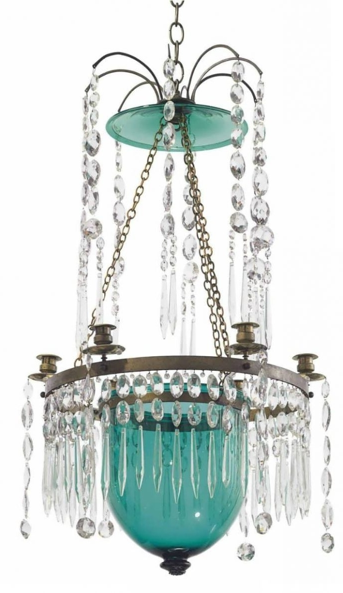 Most Up To Date Turquoise And Gold Chandeliers Inside Home Design : Excellent Turquoise Chandelier Light Gold Drum French (View 3 of 15)