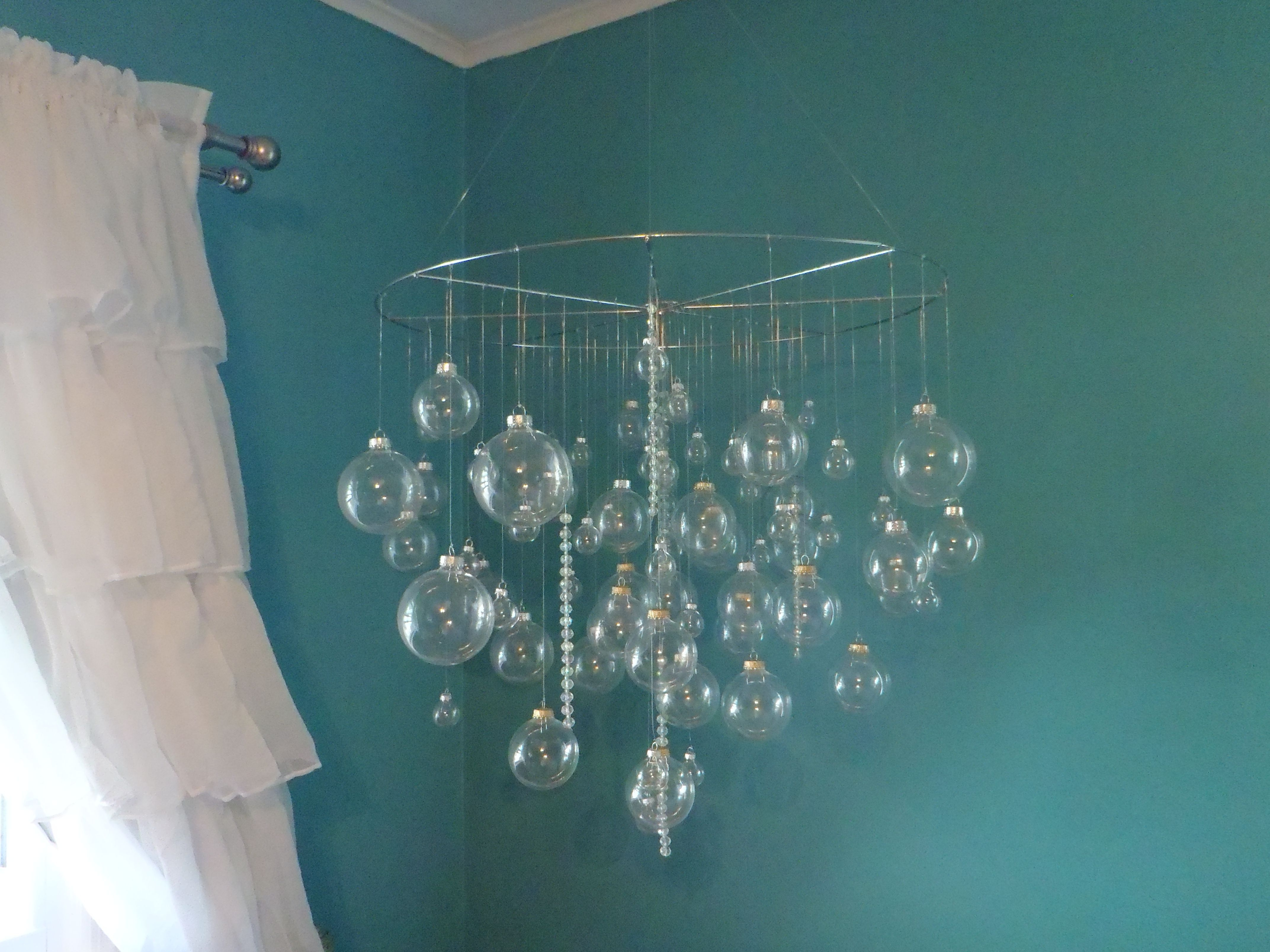 Most Up To Date Turquoise Bubble Chandeliers Intended For Bubble Chandelier. Diy (View 9 of 15)