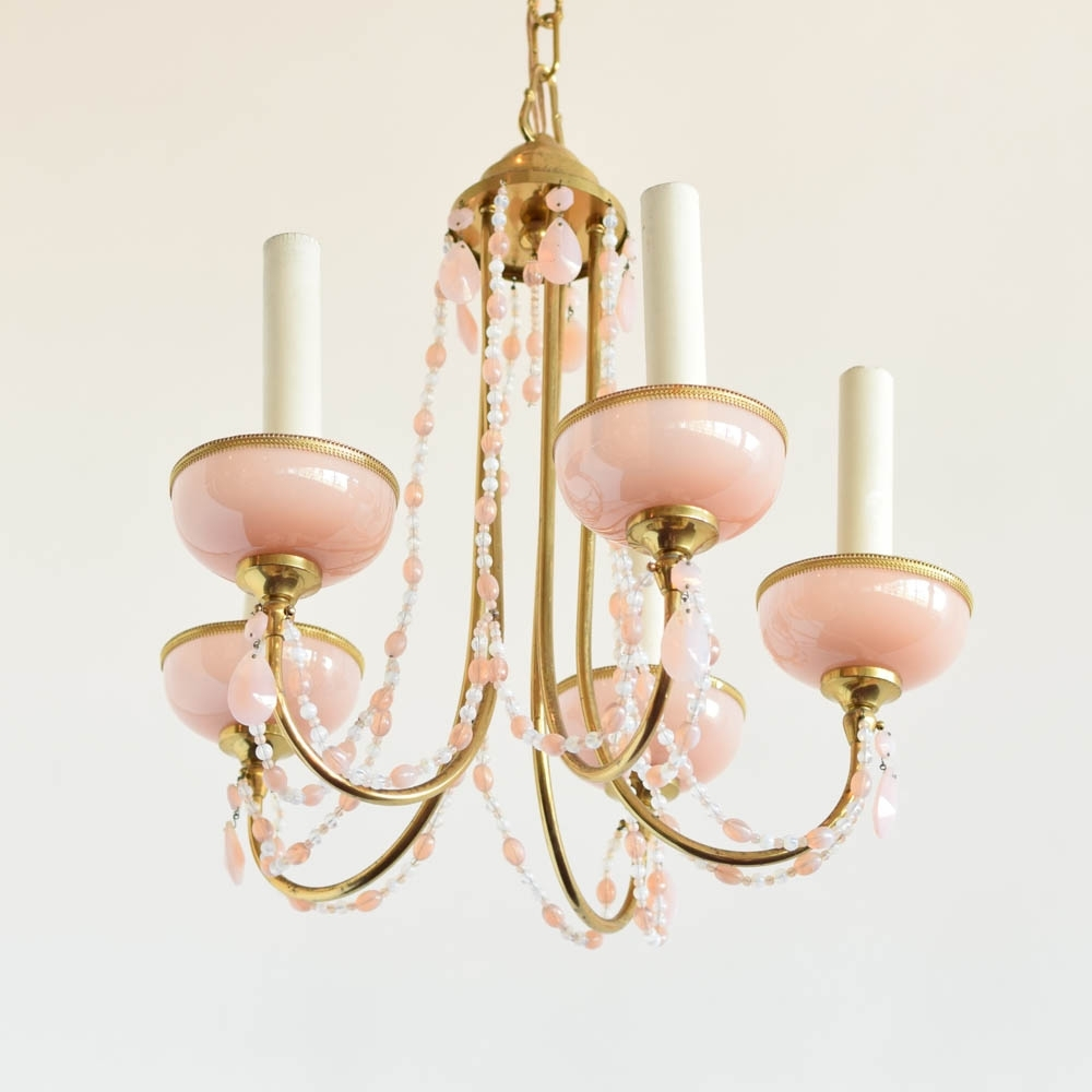 Most Up To Date Vintage Italian Chandeliers Intended For Italian Chandelier W/pink Crystals – The Big Chandelier (View 7 of 15)