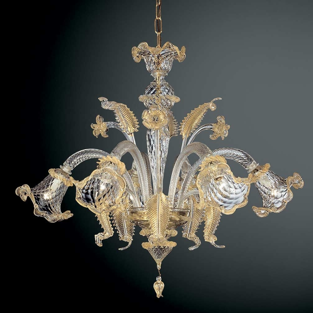 Murano Glass Chandeliers (View 9 of 15)
