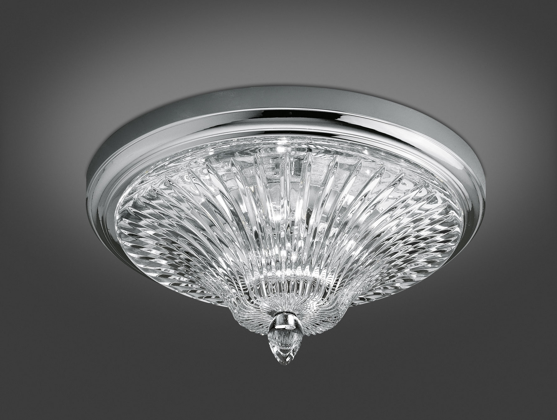Nella Vetrina Italamp 206/pl Modern Ceiling Light In Clear Crystal Throughout Well Known Ultra Modern Chandeliers (View 7 of 15)