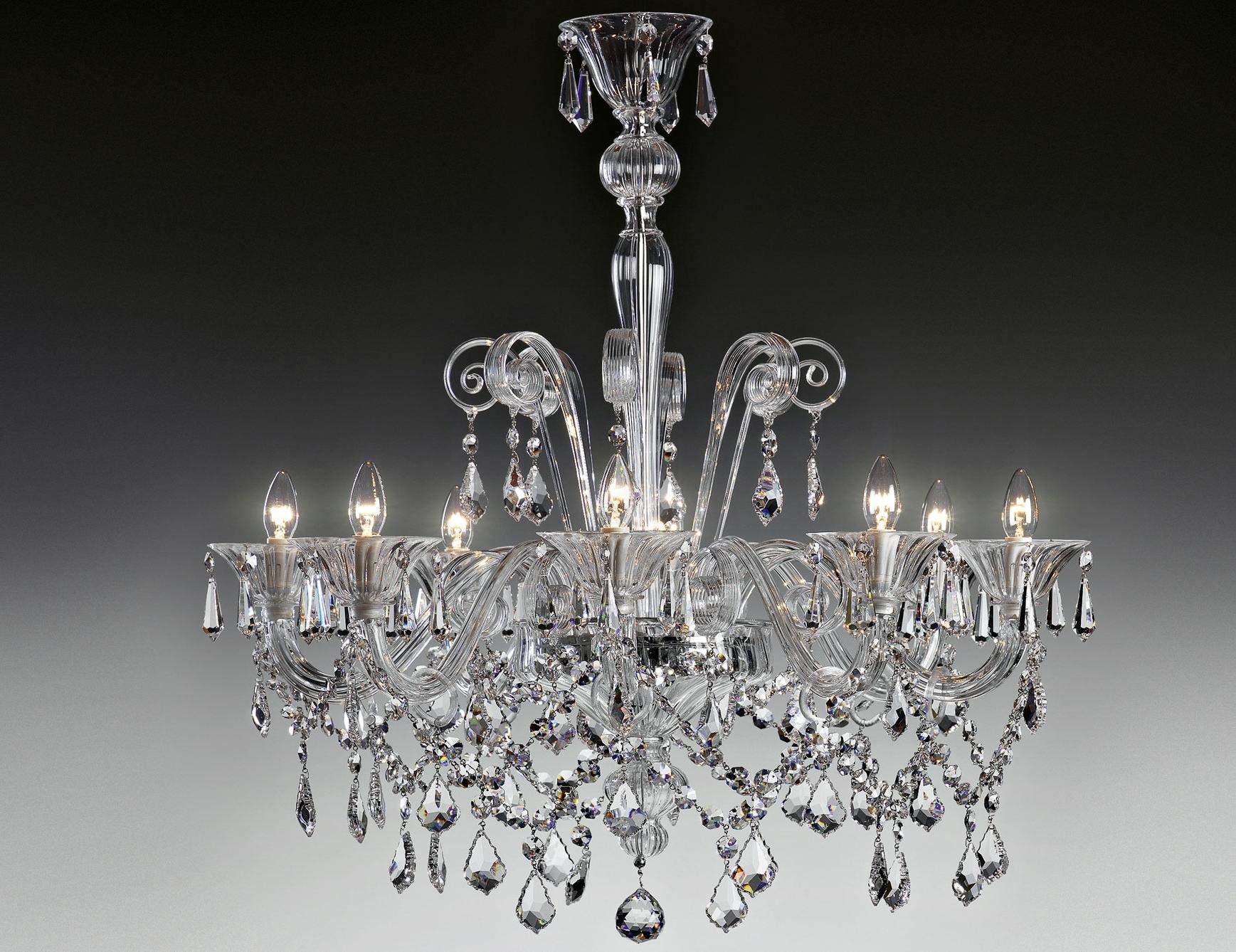 Nella Vetrina Lulu 9016 8 Modern Italian Chandelier Clear Murano Glass Inside Favorite Italian Chandeliers (View 5 of 15)