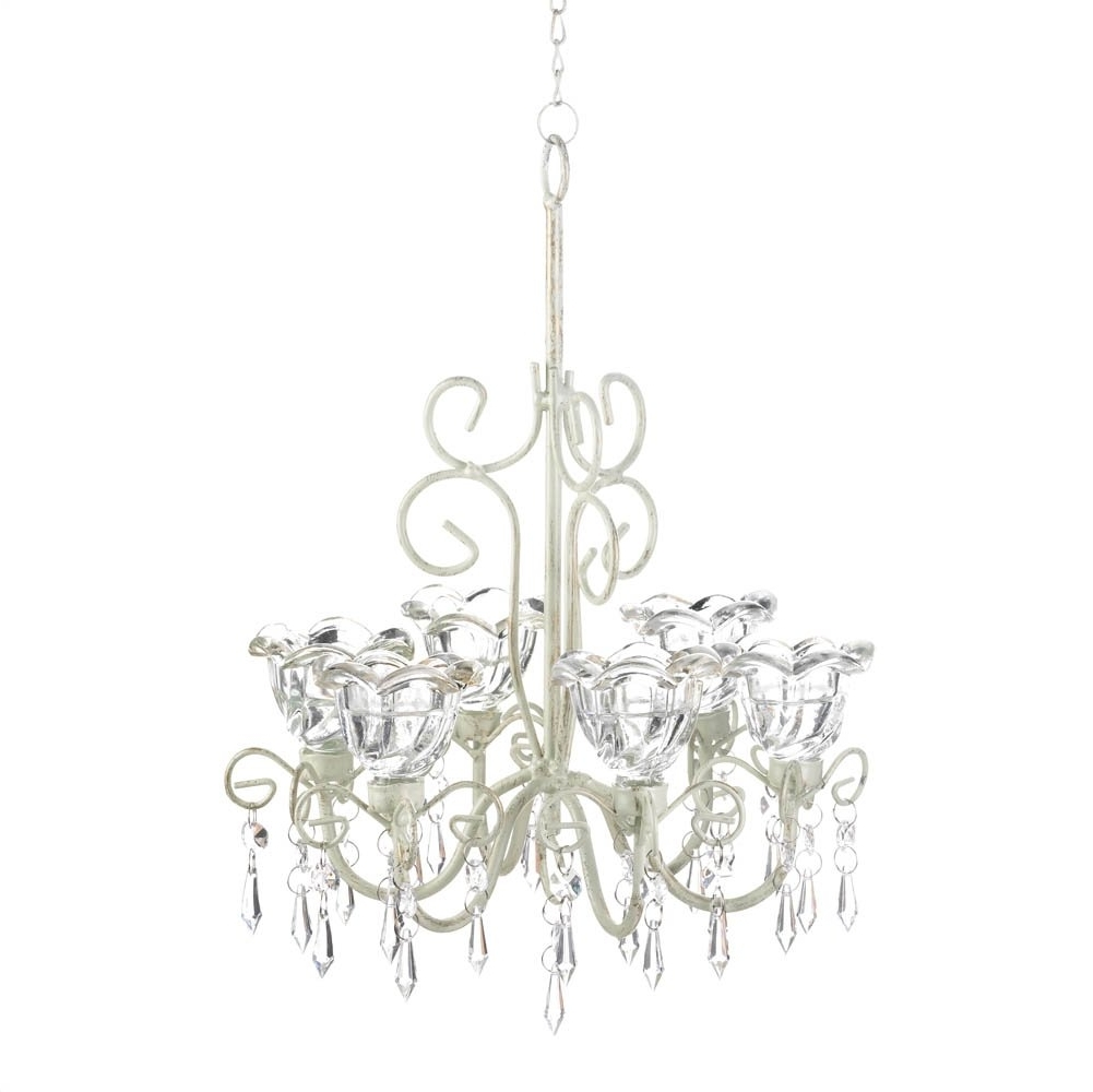 Newest Chandelier Candle Holder, Decorative Hanging Candle Chandelier White Inside White Chandeliers (View 7 of 15)