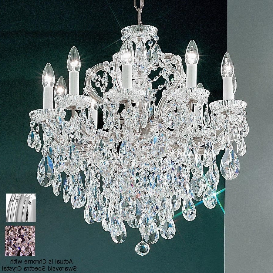 Newest Expensive Crystal Chandeliers For Shop Classic Lighting Maria Theresa 10 Light Chrome Crystal (View 10 of 15)