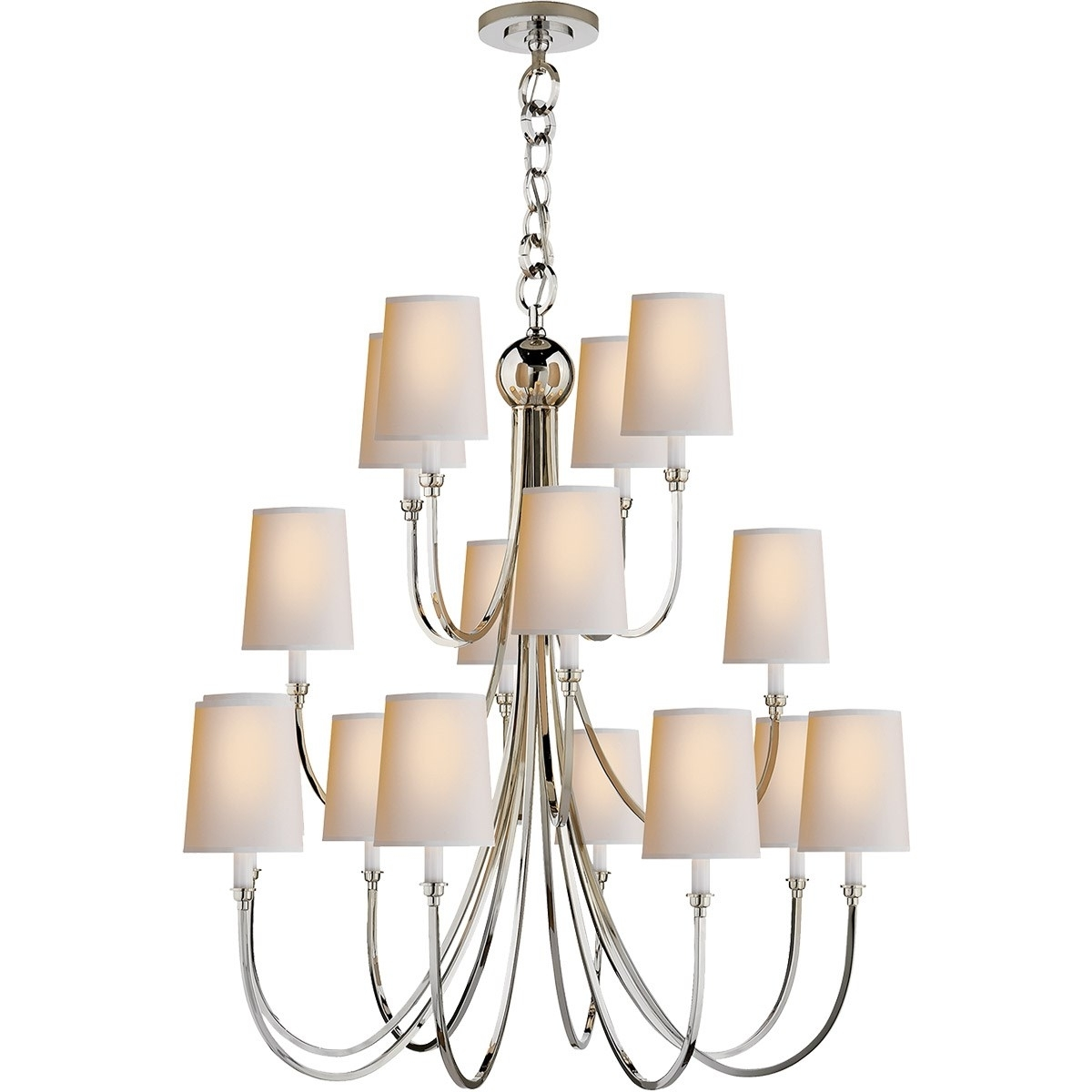 Newest Extra Large Chandelier Lighting Pertaining To Visual Comfort Tob5019 Reed 16 Light Extra Large Chandelier With (View 5 of 15)