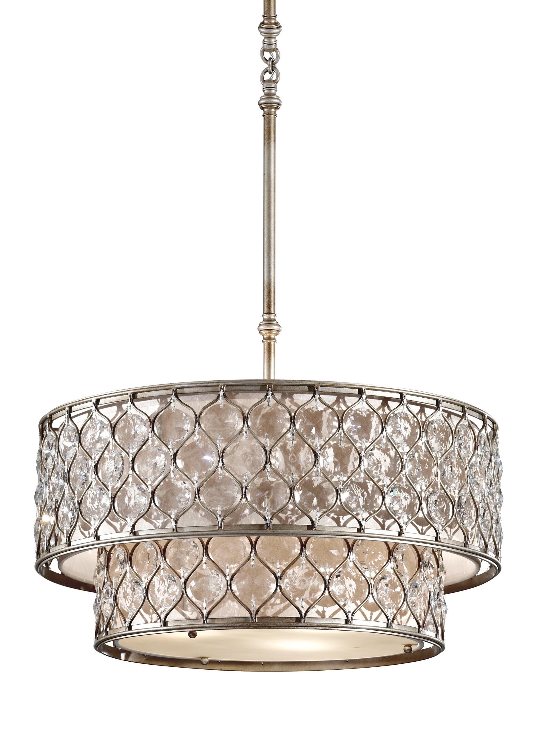 Newest F2707/6Bus,6 Light Chandelier ,burnished Silver Intended For Feiss Chandeliers (View 12 of 15)