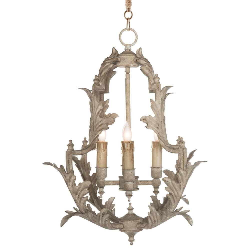 Newest French Chandeliers With Regard To Clarisse French Country Rustic White Chandelier – 23 Inch (View 11 of 15)