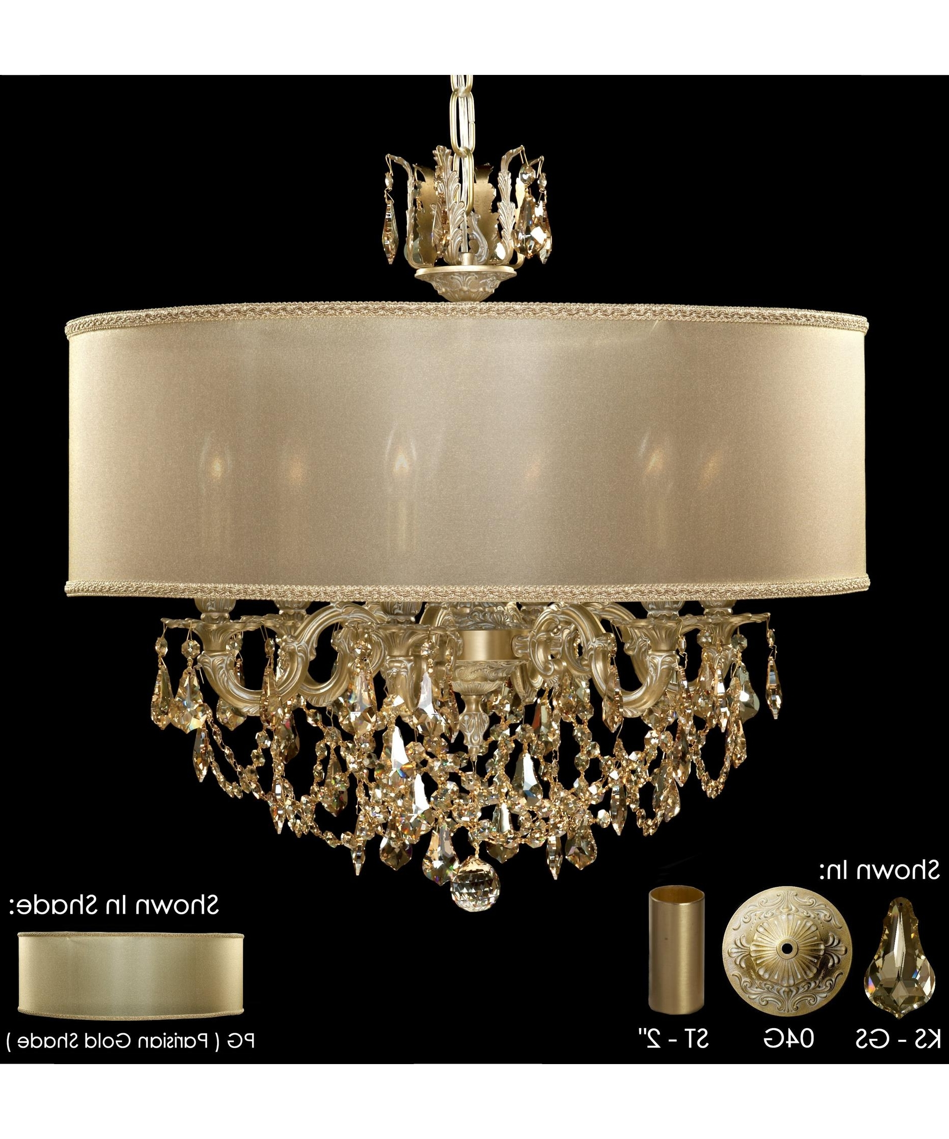Newest French Gold Chandelier Pertaining To American Brass And Crystal Ch6522 Llydia 24 Inch Wide 6 Light (View 9 of 15)