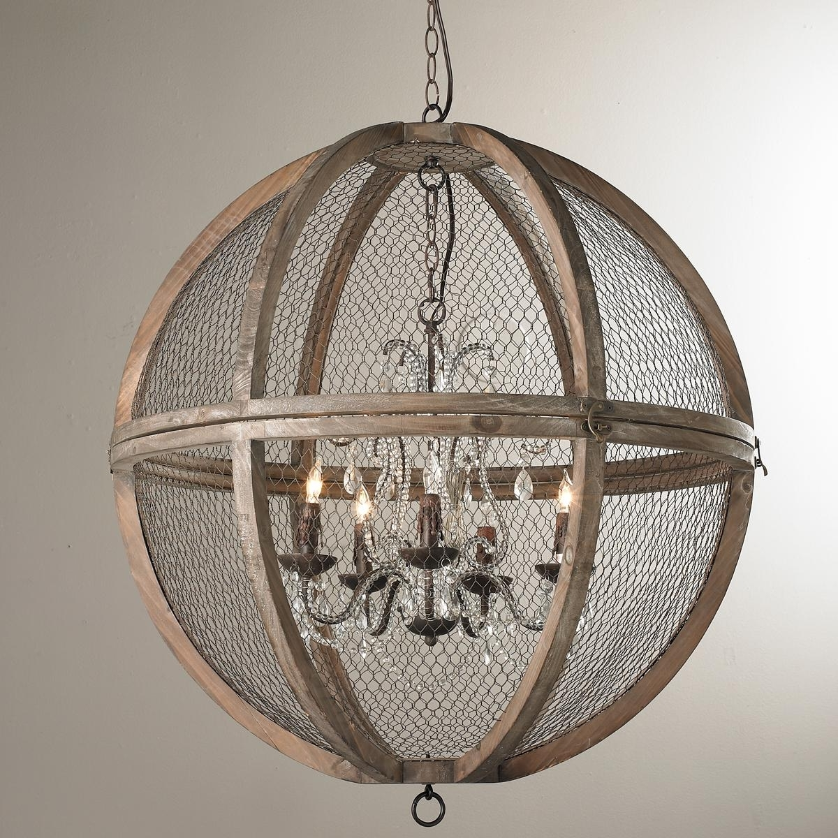 Newest Globe Crystal Chandelier In Wire Sphere Crystal Chandelier – Large (View 13 of 15)