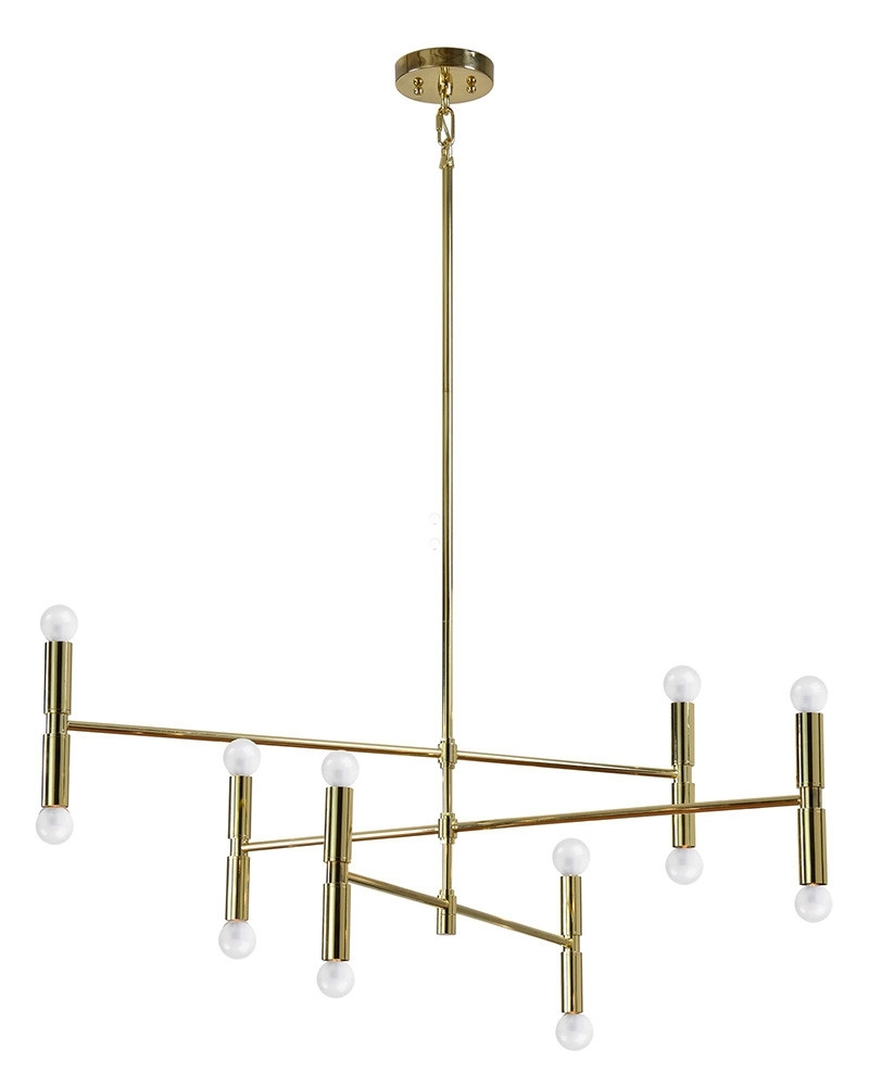 Newest Gold Modern Chandelier Regarding Modern Gold Chandelier (View 12 of 15)