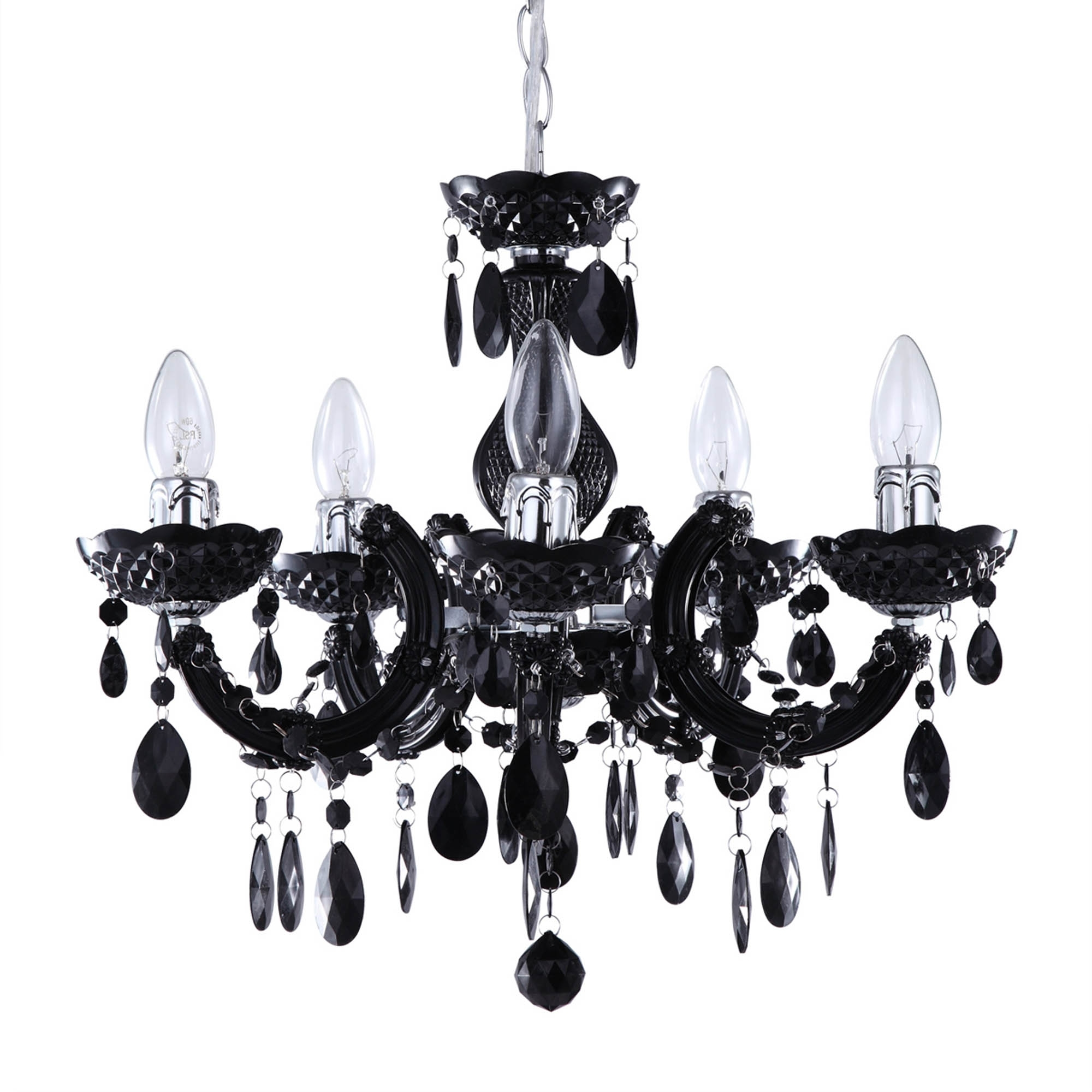 Newest Large Black Chandelier With Regard To Marie Therese Black Chandelier (View 7 of 15)