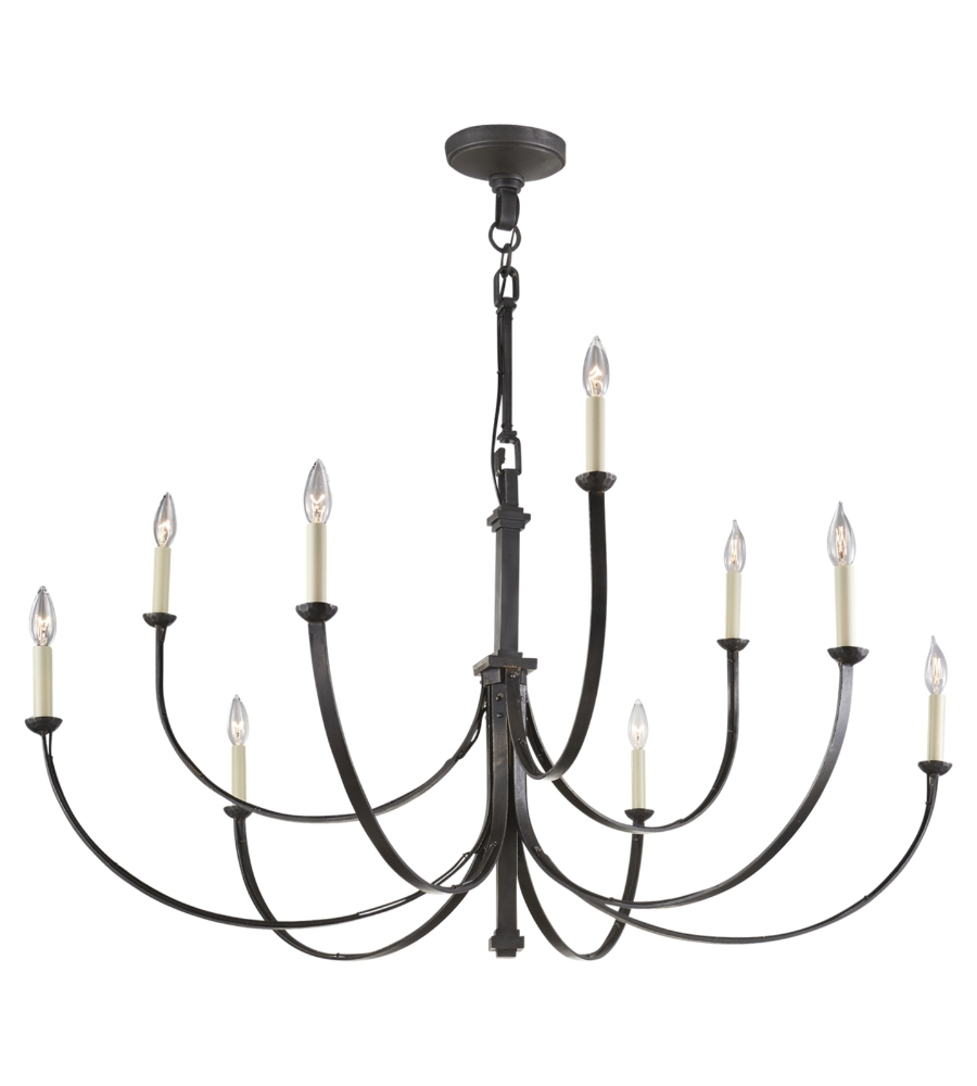 Newest Large Black Chandelier With Regard To Visual Comfort Sk 5022Ai Suzanne Kasler Casual Reims Large (View 10 of 15)