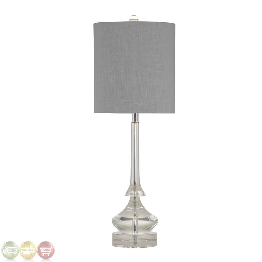 Newest Lighting: Magnificent Crystal Chandelier Table Lamp With Chromed Pertaining To Faux Crystal Chandelier Table Lamps (View 10 of 15)