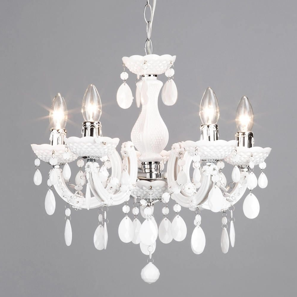 Newest Marie Therese 5 Light Dual Mount Chandelier – White From Litecraft Intended For White Chandelier (View 4 of 15)