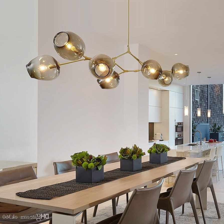 Newest Modern Chandelier With Regard To Lindsey Adelman Globe Glass Pendant Lamp Branching Bubble Modern (View 12 of 15)
