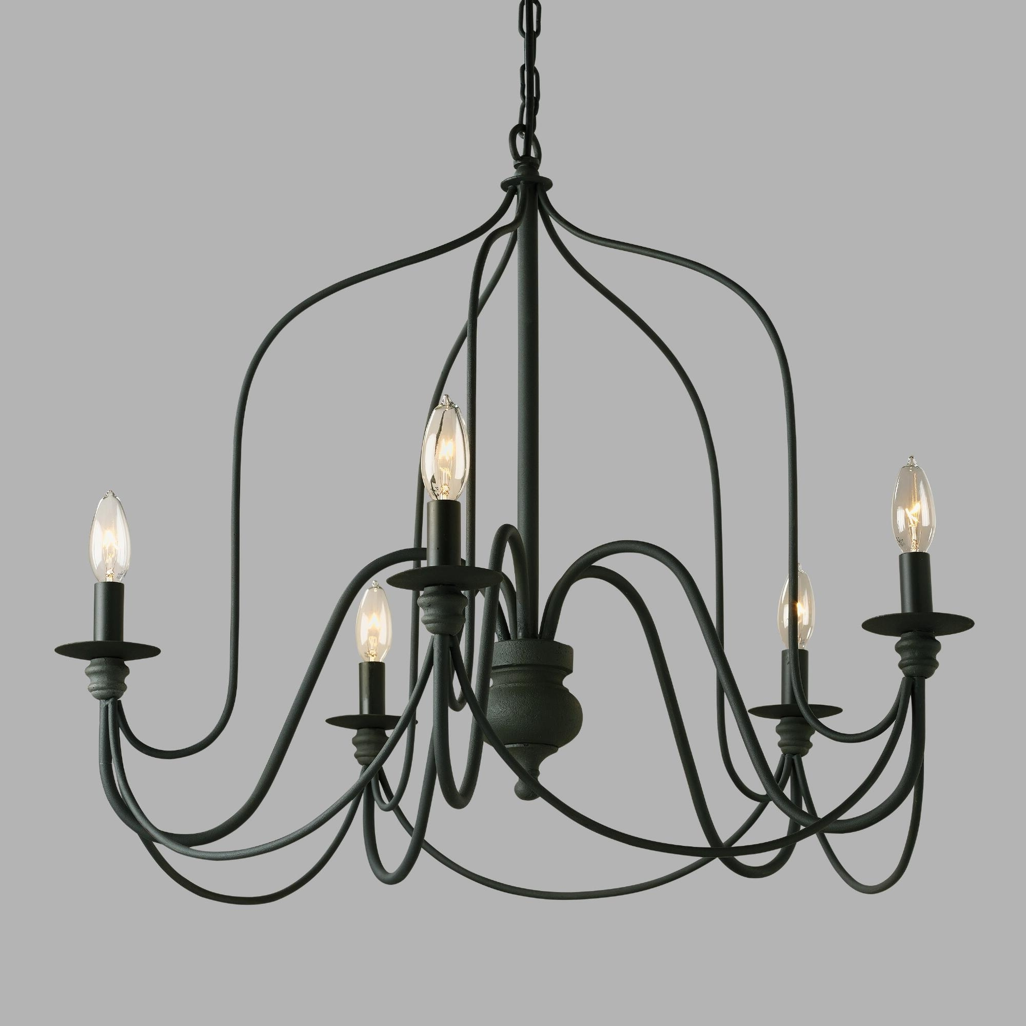 Newest Our Exclusive Rustic Wire Chandelier Features A Slender Silhouette For Vintage Black Chandelier (View 12 of 15)