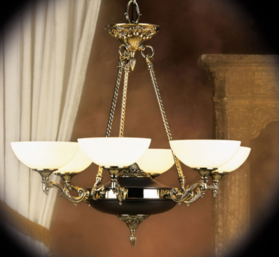 Newest Traditional Chandelier With Napoleonic I Collection 6 Light Large Traditional Chandelier (View 6 of 15)