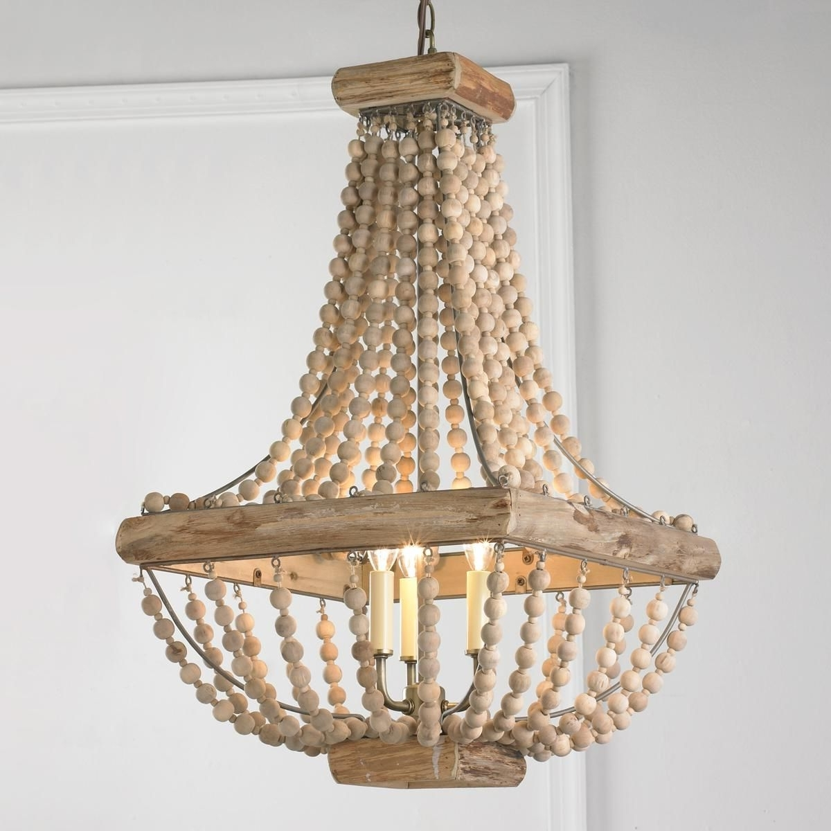 Featured Photo of Turquoise Wood Bead Chandeliers