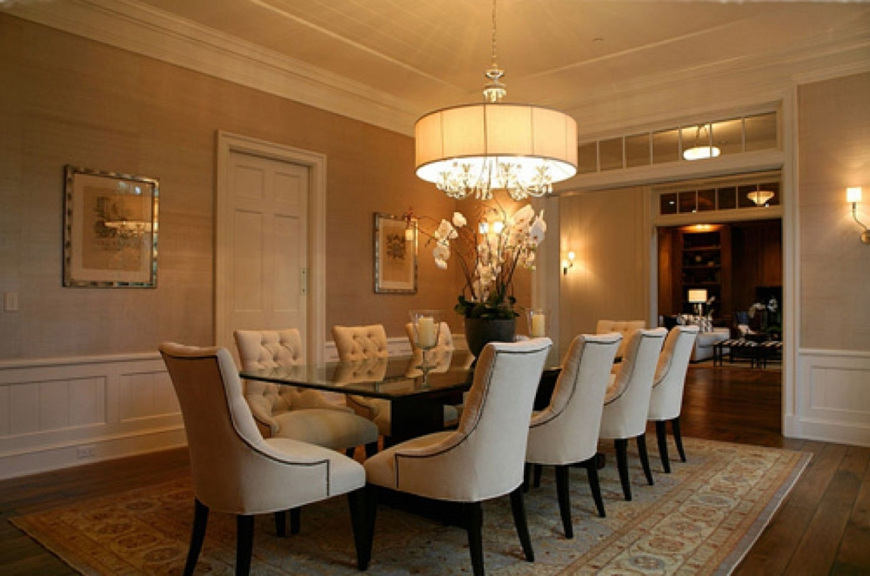 Oversized Chandeliers With Most Recent Contemporary Dining Room Design With Round Oversized Chandeliers (View 5 of 15)
