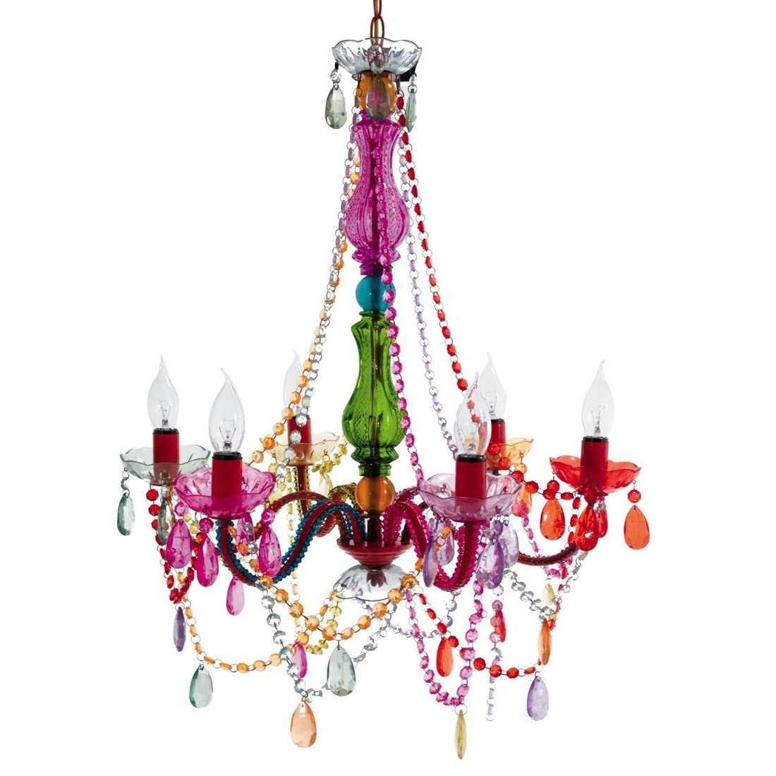 Pink Gypsy Chandeliers For Recent Gypsy Chandelier Adds A Touch Of Outrageous Baroque Class To Any (View 7 of 15)