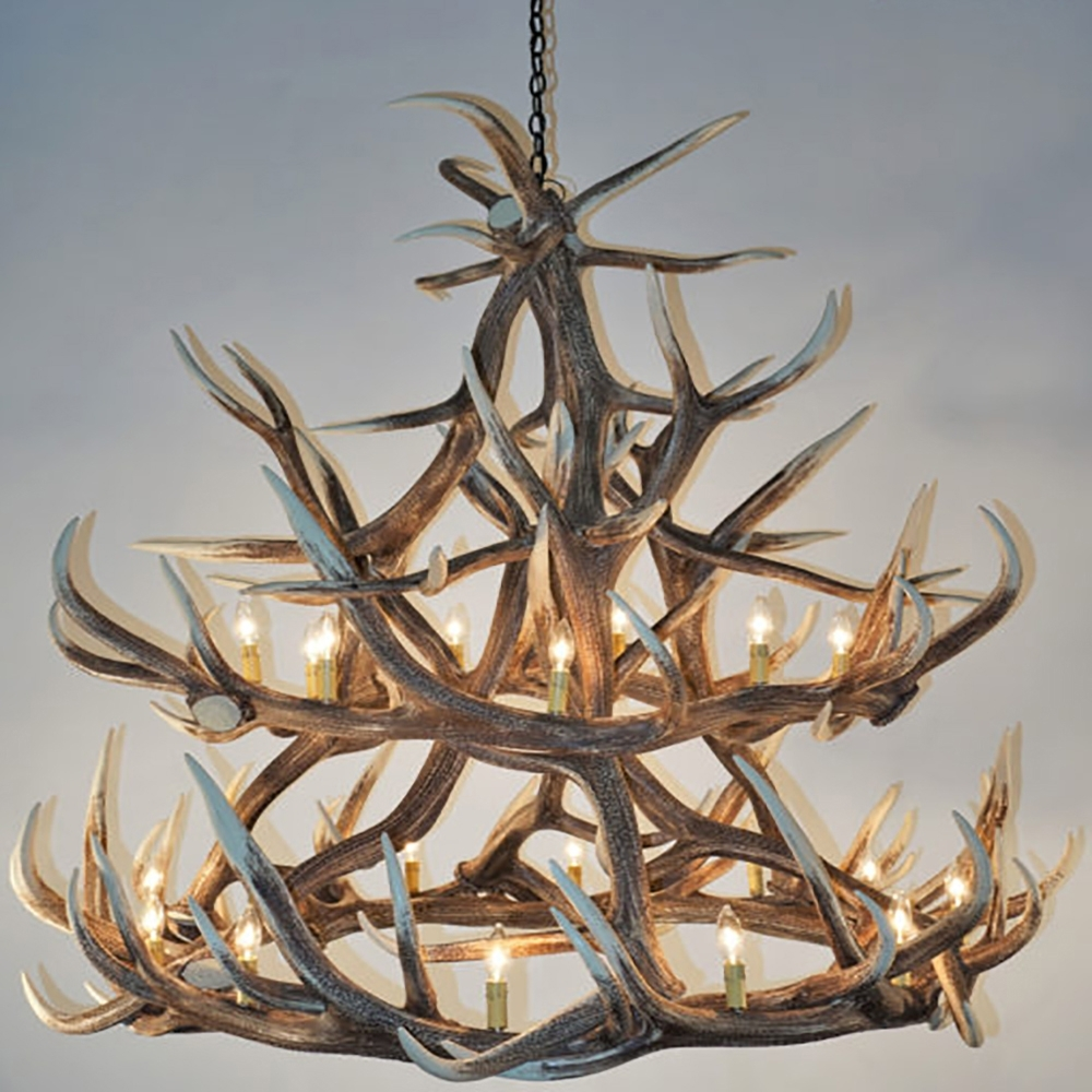 Popular Beauty Faux Antler Chandelier : Faux Antler Chandelier For The Intended For Turquoise Antler Chandeliers (View 13 of 15)