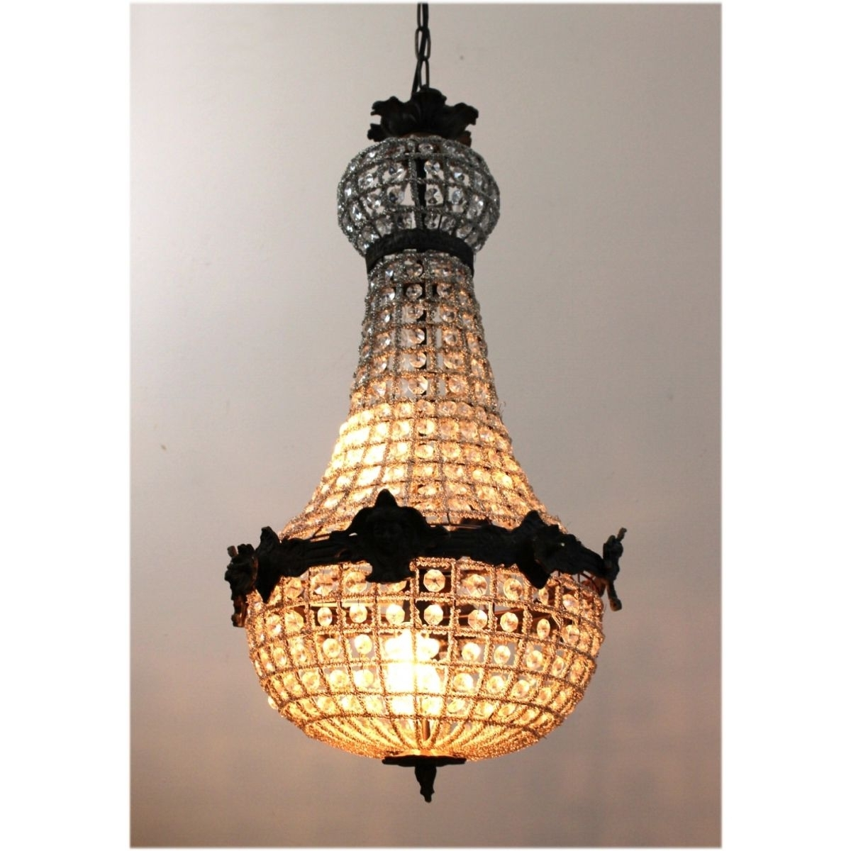 Popular Egyptian Crystal Chandelier With Egyptian Crystal Antique Style Chandelier W Victorian Faces Aged (View 7 of 15)