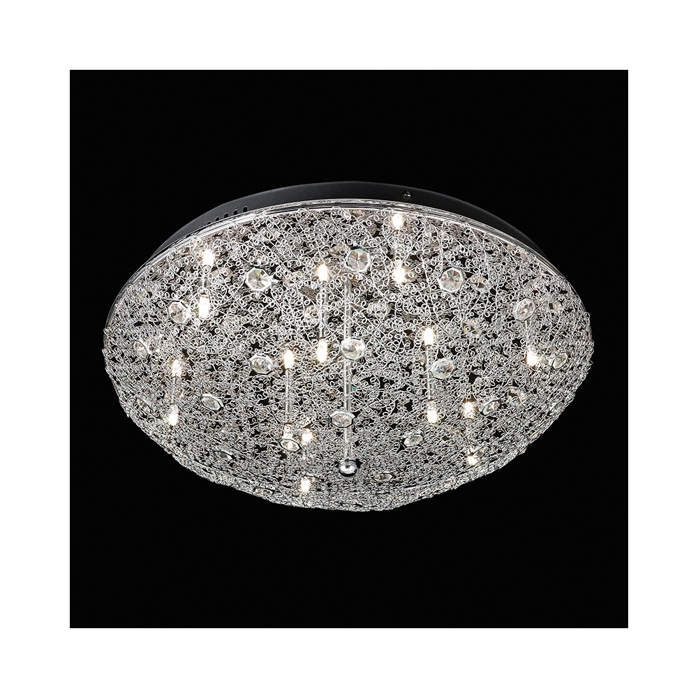 Popular Endon Echo 9Ch Echo Chrome And Crystal Flush Ceiling Light For Flush Chandelier Ceiling Lights (View 4 of 15)