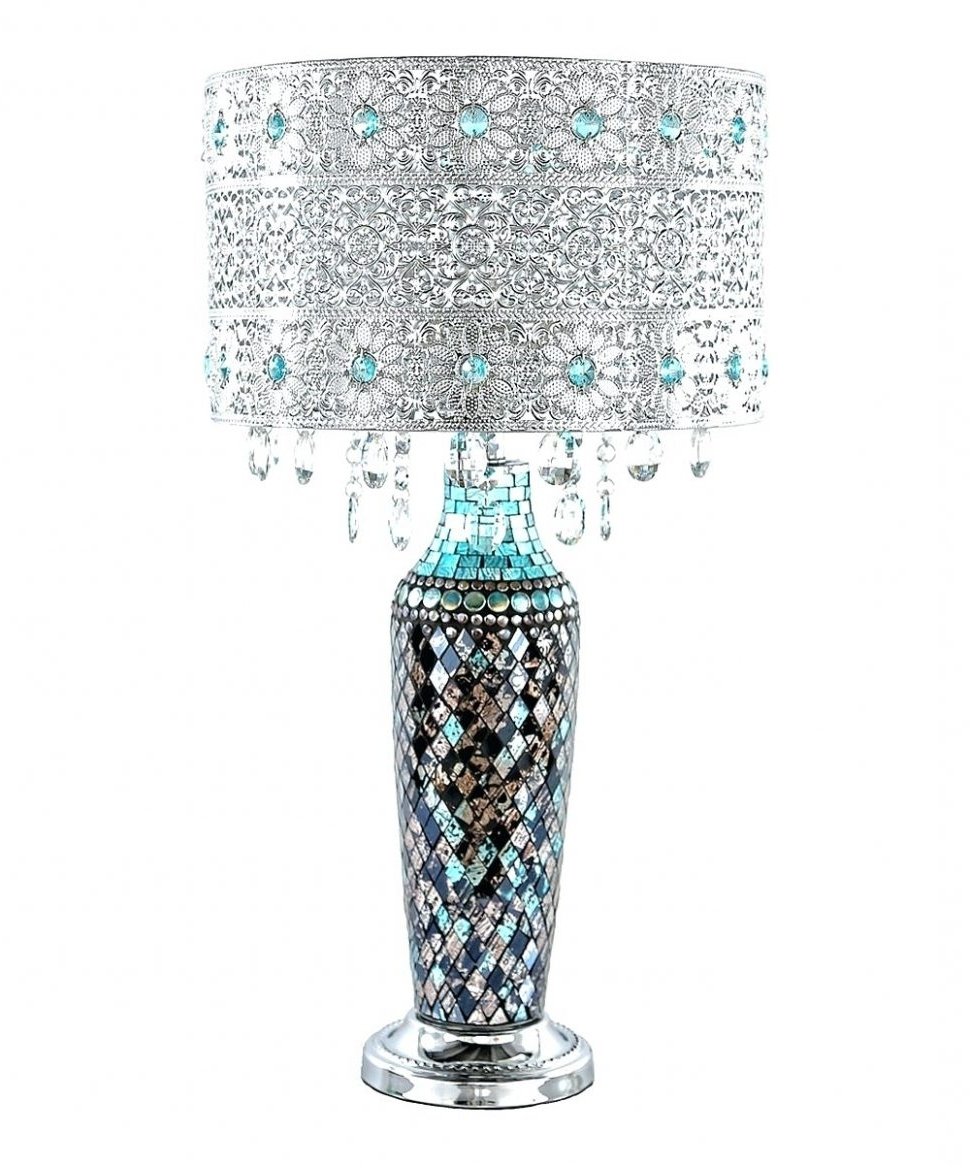Popular Lighting : Extraordinary Lamp Shades Designs Shade Patterns To Make In Turquoise Chandelier Lamp Shades (View 12 of 15)