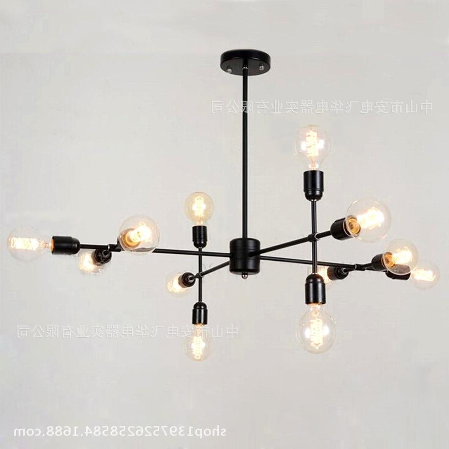 Popular Retro Chandeliers With Chandelier,new Branches Frame Molecular Ball Glass Chandeliers (View 5 of 15)