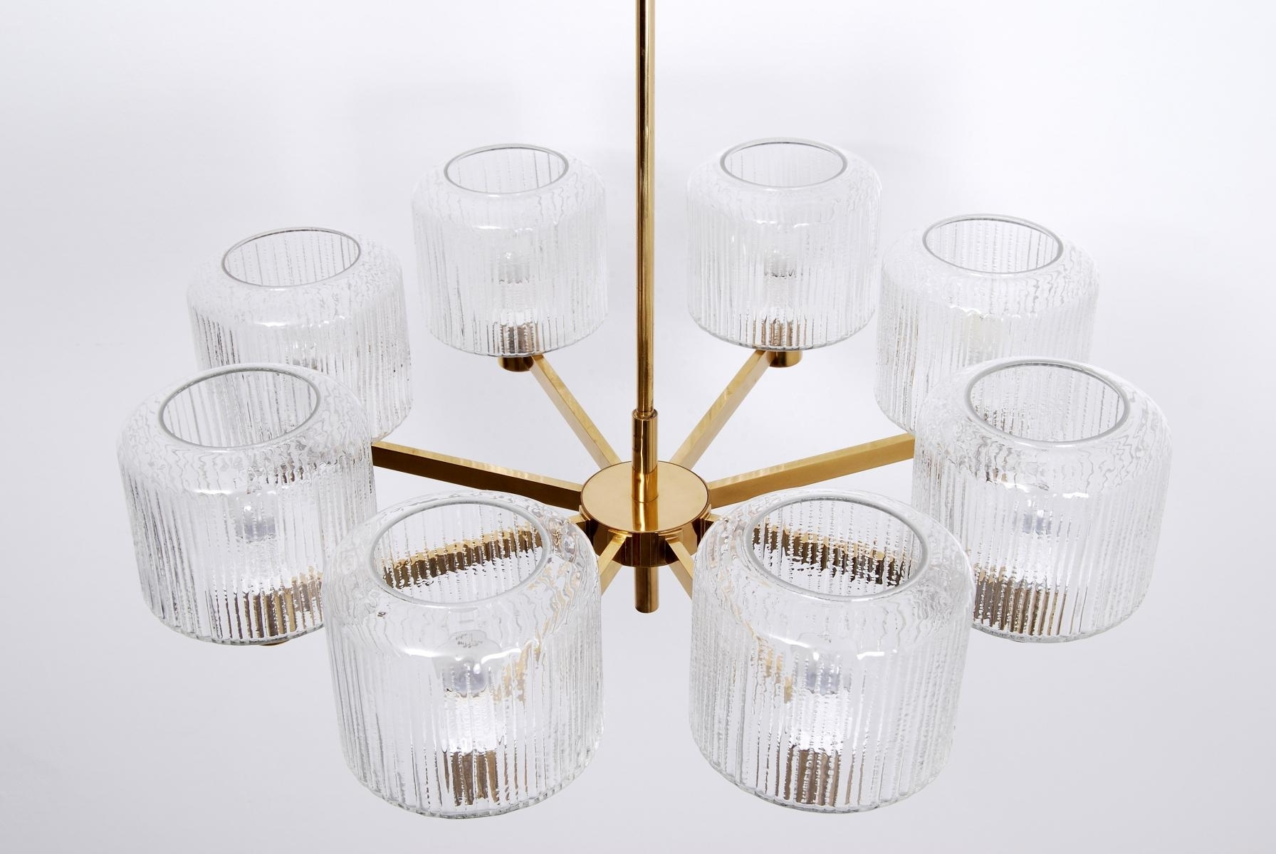 Popular Vintage Large Scandinavian Chandelier In Brass For Sale At Pamono In Scandinavian Chandeliers (View 7 of 15)