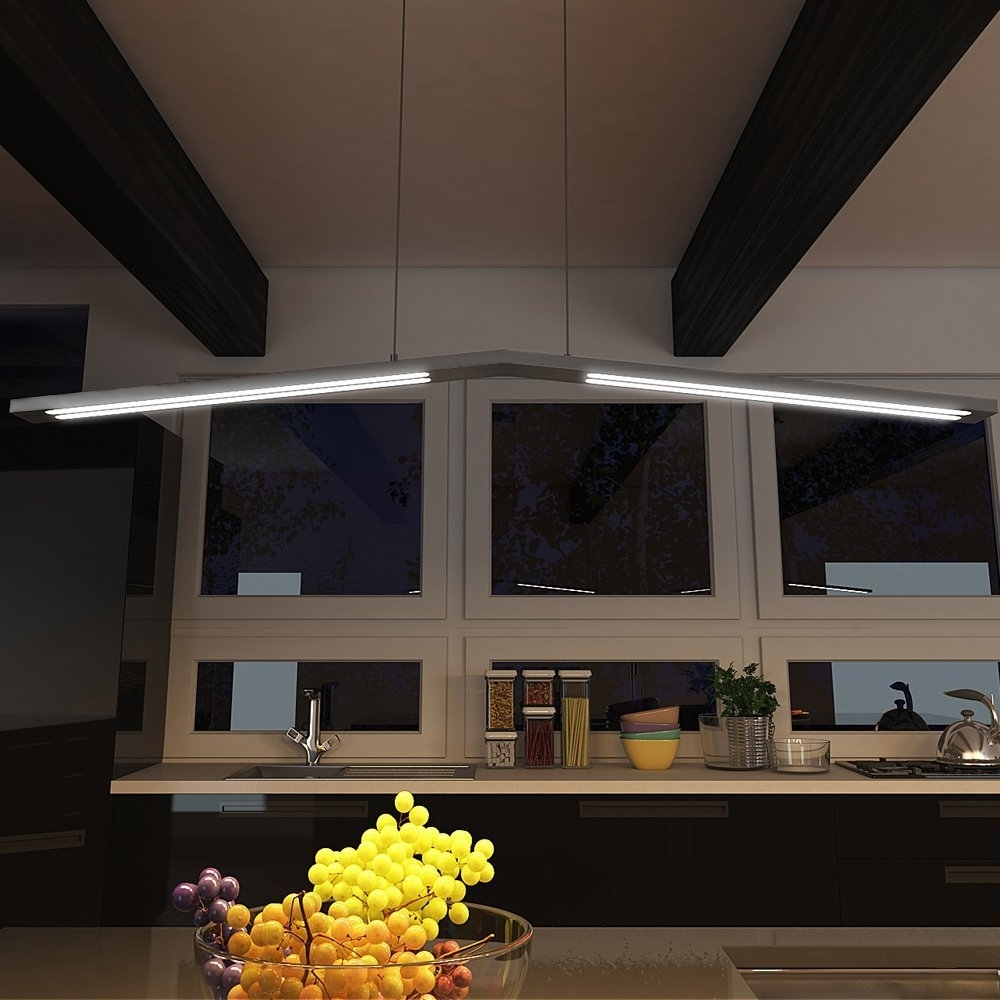 Popular Vonn Vmc31520Al Modern Linear Led Chandelier Lighting With With Regard To Modern Led Chandelier (View 11 of 15)