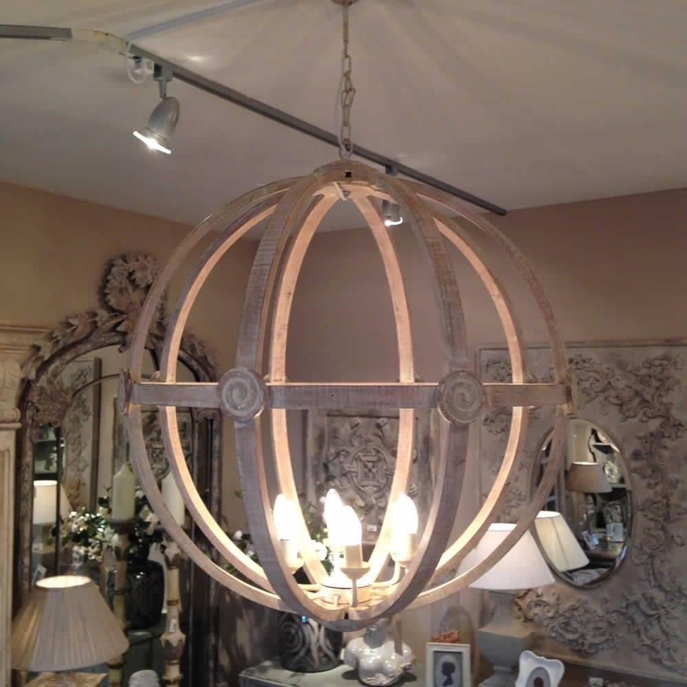 Preferred Extra Large Chandelier Lighting In Extra Large Round Wooden Orb Chandelier Stunning Rustic Light (View 14 of 15)