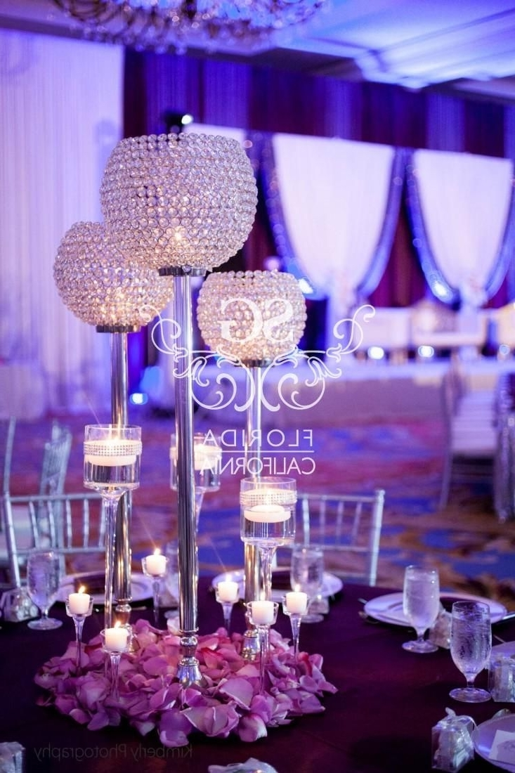 Preferred Faux Crystal Chandelier Centerpieces With Regard To 48 Best Wedding Centerpiece Images On Pinterest (View 14 of 15)