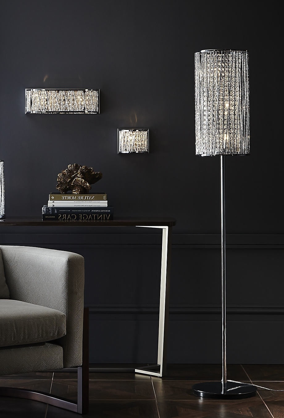 Preferred Faux Crystal Chandelier Table Lamps Pertaining To Modern Crystal Chandelier Floor Lamp Black, Chandelier Floor Lamp (View 11 of 15)