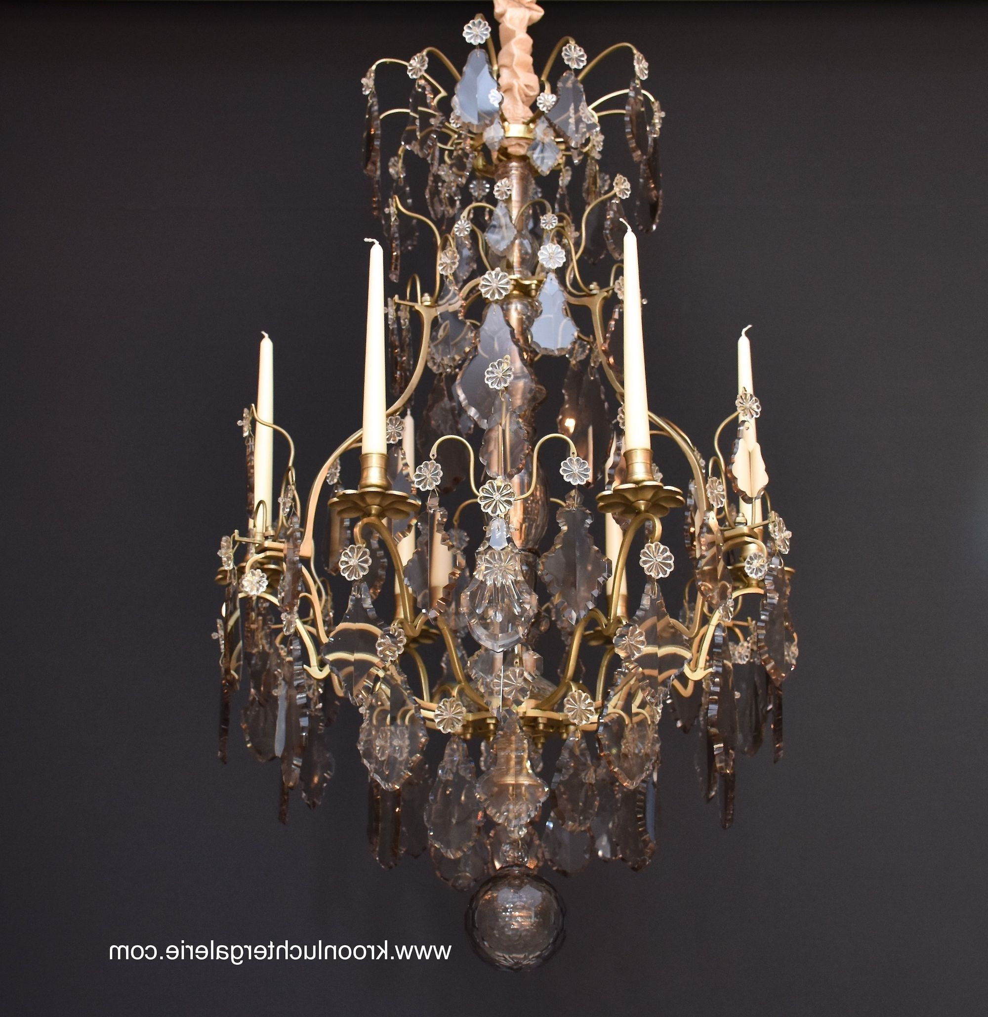 Preferred French Chandelier With Candles In The Style Of Louis Xv, Ref (View 14 of 15)